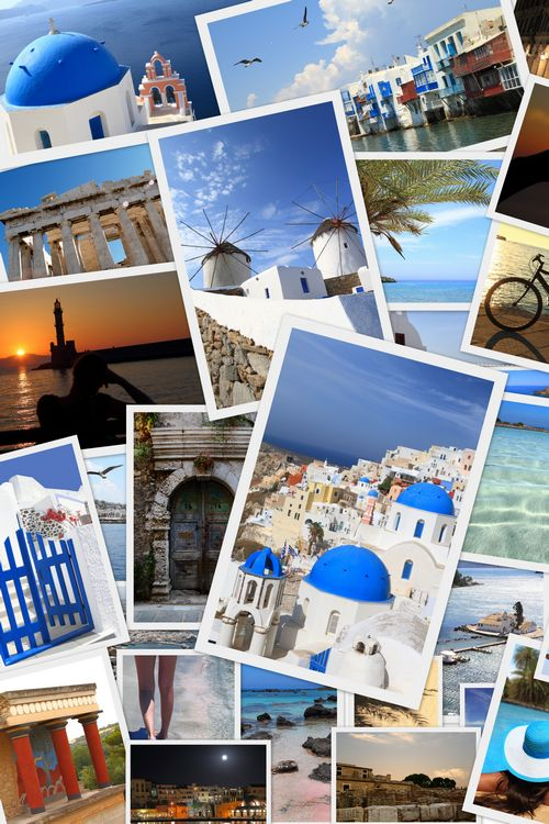 greek photos collage