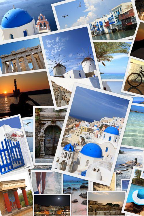 greek photos collage