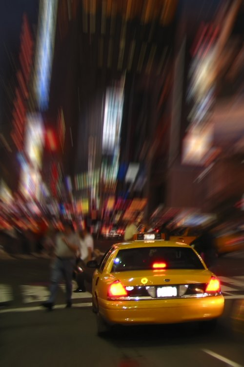 taxi blurred background